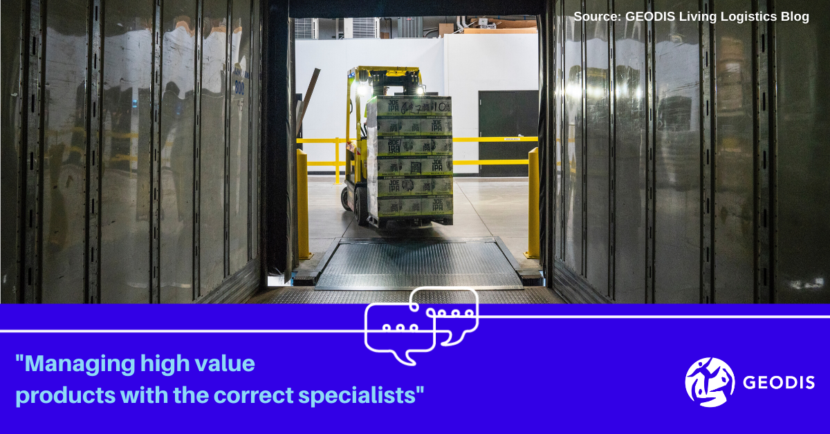 Managing high value products with the correct specialists