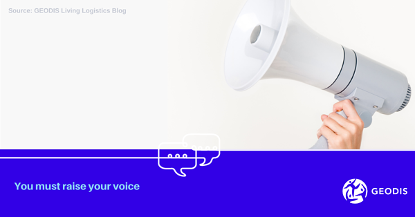 You must raise your voice